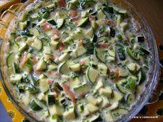 Irène`s Leckereien♥: Lachs Zucchini Quiche ohne Boden