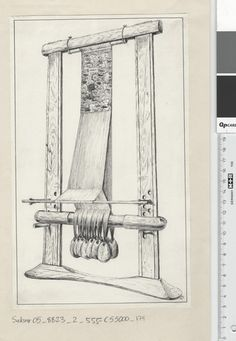 Fotoportalen UNIMUS. Rather unusual interpretation of one of the Oseberg looms...