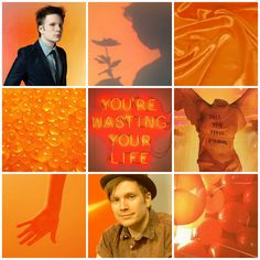 Requested! Patrick Stump orange moodboard (my edit)