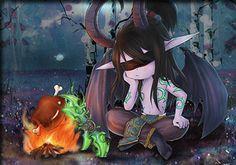 Chibi Illidan- World of Warcraft