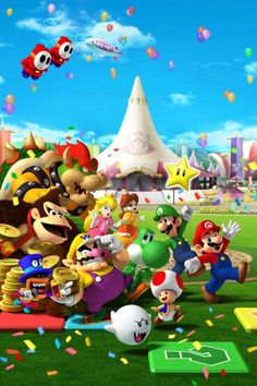 wallpapers mario party iphone