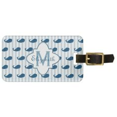 >>>Smart Deals for          	Blue and White Stripes Whale Monogram Tags For Bags           	Blue and White Stripes Whale Monogram Tags For Bags in each seller & make purchase online for cheap. Choose the best price and best promotion as you thing Secure Checkout you can trust Buy bestThis Deals ...Cleck Hot Deals >>> http://www.zazzle.com/blue_and_white_stripes_whale_monogram_luggage_tag-256089533438714460?rf=238627982471231924&zbar=1&tc=terrest