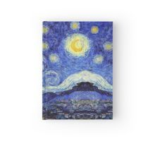 'A Starry Night Van Gogh Mountain Inspiration' by Angelinas Doctor Who Tardis, Van Gogh, Artwork, Inspiration, Journal, Night, Inspired, Products, Biblical Inspiration