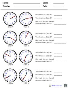22 best telling time printables images on pinterest clock elapsed time worksheets this site generates clock times in increments of your choice great ibookread Read Online