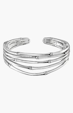 Free shipping and returns on John Hardy 'Bamboo' Cuff at Nordstrom.com. A tapered stack of hand-polished, bamboo-like silver makes an elegant open cuff.