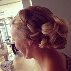 Bridesmaid hair.
