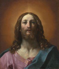 :::: ♡ ✿⊱╮☼ ☾ PINTEREST.COM christiancross ☀❤•♥•* :::: Guido Reni BUST OF CHRIST (SALVATOR MUNDI)