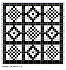 Fairisle chart for Pine vintage glove pattern Knitting Charts, Knitting Patterns Free, Free Knitting, Vintage Gloves, Fair Isle Knitting, Color Patterns, Mittens, Needlework, Free Charts