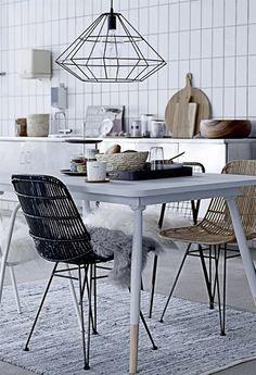 interior, light fixtures, lamp, wood tables, kitchen, pendant lights, subway tiles, design, table legs