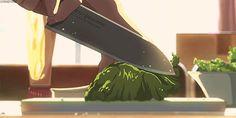 Makoto Shinkai anime food anime gif the garden of words Kotonoha no Niwa anime film