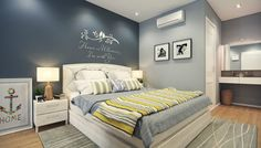 Bedroom ideas for couples blue bedroom colors for couples of blue bedroom color schemes master ideas . bedroom ideas for couples Small Bedroom Paint Colors, Blue Bedroom Colors, Blue Master Bedroom, Bedroom Color Schemes, Small Room Bedroom, Home Decor Bedroom, Colour Schemes, Small Rooms, Trendy Bedroom