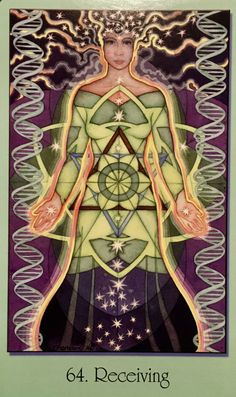 """Daily Angel Oracle Card: Receiving, from the Sacred Geometry For The Visionary Path Oracle Card deck, by Francene Hart Receiving: """"Readiness, Receptivity"""" """"This is the final card …"""