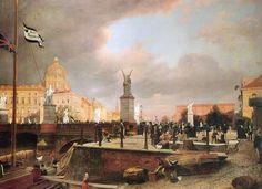 Eduard Gaertner, Ansicht der Schlossbrücke, 1861.