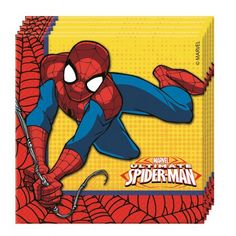 20 Servilletas fiesta Cumpleaños Spiderman Ultimate