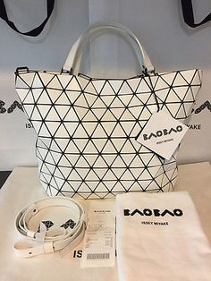 7a8db39e41 NWT Japan Bao Bao Issey Miyake Bag Limited Crystal Small Matte White Receipt