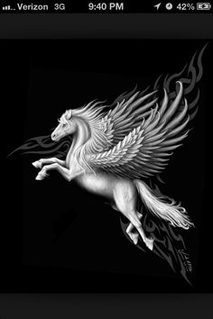 Pegasus the immortal winged horse. Placed in the stars as a constellation by Zeus the king of the Greek Gods. Whose rising marked the arrival of the warmer weather of Spring and seasonal rainstorms. Which is said he was often named the thunderbolt-bearer of Zeus
