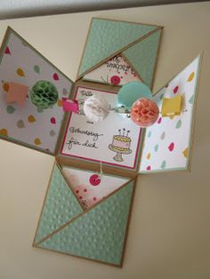 Zum Geburtstag einer lieben Freundin (huhu Steffi :-)) *CLICK*  haben wir eine besondere Explosion-Box verschenkt.  Der Inhalt bezieht sich...