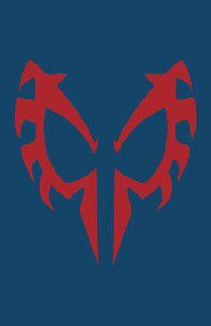 Spider-Man 2099 Mask Minimalist Design by burthefly.deviant... on @deviantART
