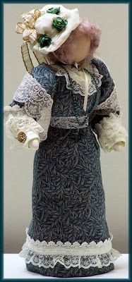 Victorian Dolls, Victorian Traditions, The Victorian Era, and Me: My Victorian Lady Doll LouArlene - Victorian Lady Doll