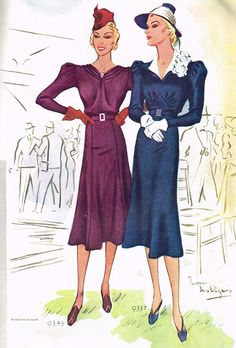 McCall 9345 and 9337 in McCall Fashion Book, Autumn 1937