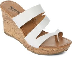 88df6cd60bb Buy Arizona Cypress White Womens Wedge Sandals online in India at best  price.Shoe Heel Height  3 Inches Toe Type  Open Toe Width  Medium Country  of Origin  ...