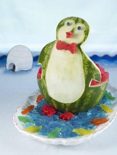 Watermelon Penguin #watermelon
