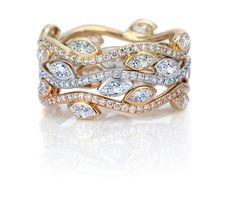 Adonis Rose Bands - by De Beers  stackable rings....just one alone would make a neat wedding band!