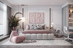 Luxury Kids Bedroom, Luxury Bedroom Design, Room Design Bedroom, Luxury Rooms, Girl Bedroom Designs, Kids Room Design, Room Ideas Bedroom, Home Room Design, Luxurious Bedrooms