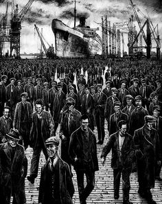 The Pride of Mary, Ryan Mutter Industrial Artwork, Queen Mary, Working Class, Glasgow, Interior And Exterior, Boats, Pop Art, Eye Candy, Motorcycles
