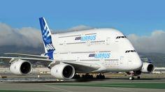 Gigantes da Aviação 2 ✈ Maiores aviões do mundo AirBus A380 A340 Boeing ...