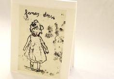 Mini art pad - OOAK -My fancy dress-