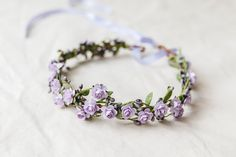 lilac lavender flower crown / dainty floral hair by kisforkani