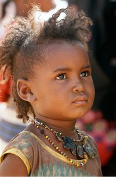 Africa |  Wodaabe child.  Niger.