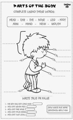 Tres fichas con las que nuestros alumnos podrán realizar actividades relacionadas con las partes del cuerpo en inglés. Ideal para segundo...
