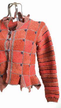 Maiwa Lecture Yarns and Lines: New Directions in Hand / Alison Ellen Crochet Bolero, Gilet Crochet, Crochet Jacket, Knit Jacket, Crochet Cardigan, Knit Crochet, Knitting Patterns, Crochet Patterns, Crochet Fashion