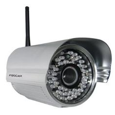 Foscam FI8905W Outdoor Wireless/Wired IP/Network Camera with 30 Meter Night Vision and 6mm Lens (22° Viewing Angle) - Silver