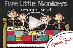Five Little Monkeys Jumping On The Bed Five Little Monkeys Five Little Monkeys Song Little Monkeys