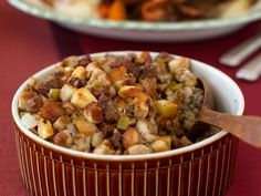 This is our favorite dressing for thanksgiving! Sage, Sausage and Apple Dressing recipe from Food Network Kitchen via Food Network Best Stuffing, Stuffing Recipes, Apple Stuffing, Sausage Stuffing, Cornbread Stuffing, Turkey Stuffing, Stuffing Mix, Thanksgiving Stuffing, Thanksgiving Menu