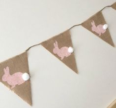 Burlap bunny banner by Glamorous, Affordable Life on Etsy