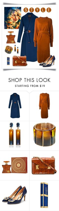 """Louis Vuitton Double Cashgora Wrap Coat"" by romaboots-1 ❤ liked on Polyvore featuring Étoile Isabel Marant, Oscar de la Renta, Bond No. 9, Sophie Hulme and Balmain"