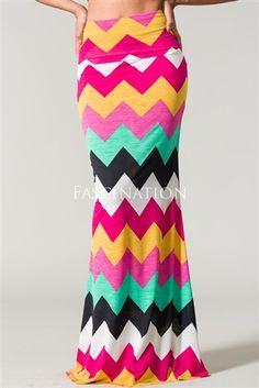 Color Block Chevron Print Maxi Skirt, Maxi Dress, Modest Dresses, Church Dresses