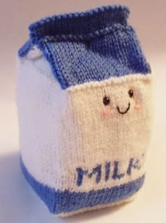 knitted milk and cookies