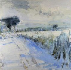 Hannah Woodman, Snow Shadows, Cornish Field on ArtStack #hannah-woodman #art