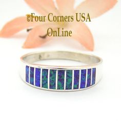 Four Corners USA Online - Size 13 1/2 Purple Fire Opal Inlay Wedding Band Ring Ella Cowboy WB-1629, $135.00 (http://stores.fourcornersusaonline.com/size-13-1-2-purple-fire-opal-inlay-wedding-band-ring-ella-cowboy-wb-1629/)