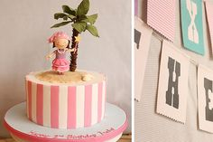 Pirate Princess cake and bunting by Cake Ink. (Janelle), via Flickr