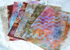 Hand Painted Collage and Mixed Media Papers from my studio