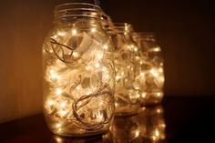 Tots and Bottoms: An Easy Christmas Decoration: lights in jar
