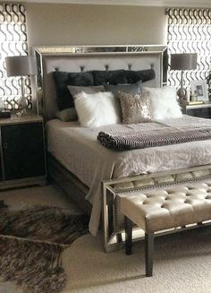 Facebook fan Sandie B. shared her bedroom update, styled with our Ava Bed Lola Bench.