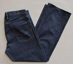 GAP 1969 Loose fit Jeans 38 33 Men's Dark Relax Straight Ringspun Cotton Denim  #GAP #BaggyLoose