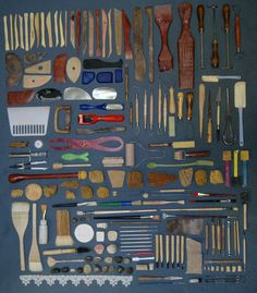 Things Organized Neatly -- Submission: collection of clay tools